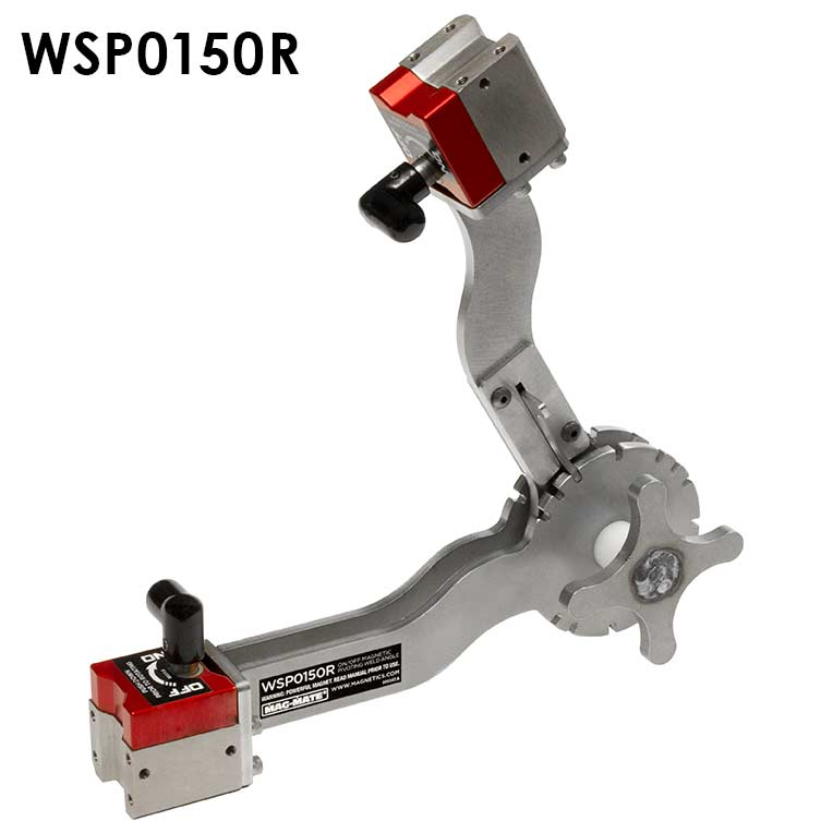 MAG-MATE WG200R Magnetic Welding Ground Red Silver